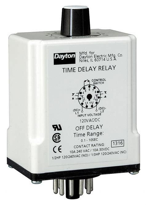 dayton single function timing relay vdc
