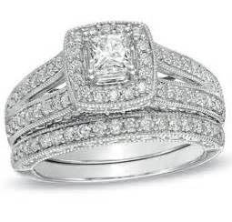 white gold wedding ring sets antique princess 2 carat wedding ring set for in white gold jewelocean
