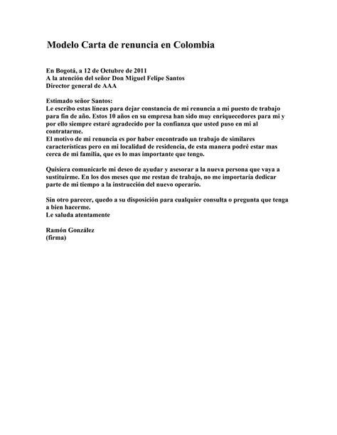 calameo modelo carta de renuncia en colombia