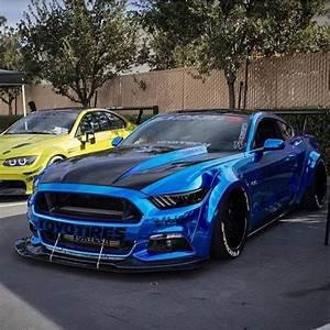 Ford Mustang Modified Slammed Chrome Blue Mustang GT www.foraymotorgro...... - mclaren p13