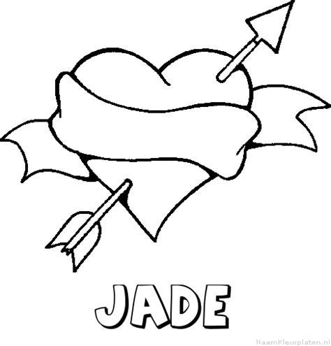 Kleurplaat Jade by Jade Naam Kleurplaten