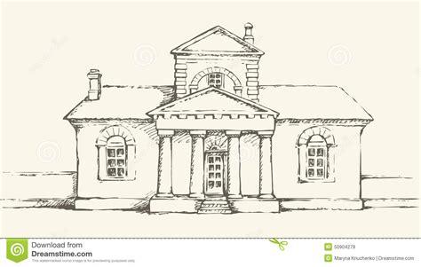 single storey  building vector drawing cartoon vector