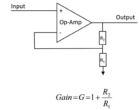 Example Non Inverting Amp Circuit Download Scientific
