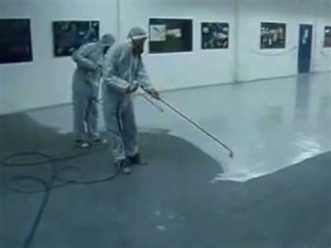 epoxy floor coating spray application youtube