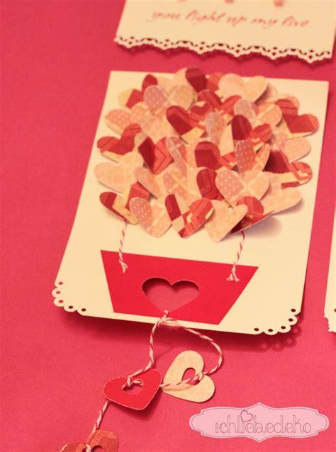 karten zum valentinstag selber machen ich liebe deko