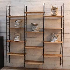 Etagere Metal Et Bois : mobilier industriel etag re m tal et bois ~ Teatrodelosmanantiales.com Idées de Décoration