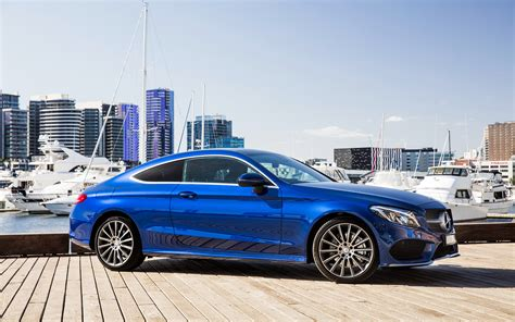 Mercedes C Class Coupe Backgrounds by Wallpaper Mercedes C Class Amg C205 Coupe Blue Cars