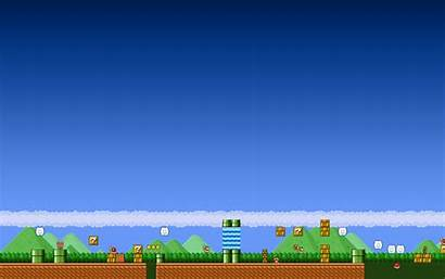 Mario Super Wallpapers Bros Gaming Retro Backgrounds