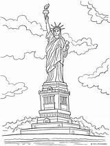 Liberty Statue Coloring Pdf Independence Printables President Patriotic Veteran sketch template