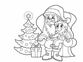 HD Wallpapers Coloring Page Father Christmas
