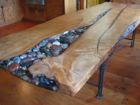 Pebble Epoxy Flooring Diy by Kauri Table Cobbles Not Pebbles Woodworking