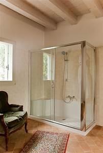 Cabina doccia in vetro temperato Cabina con telaio in