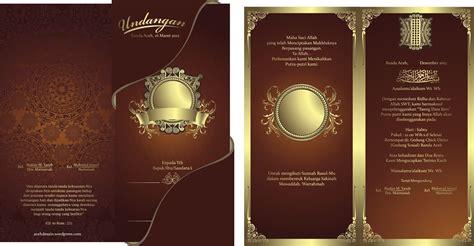 template undangan pernikahan keren format cdr gratis