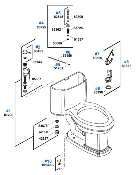 English Trellis Toilet Repair Parts by Kohler
