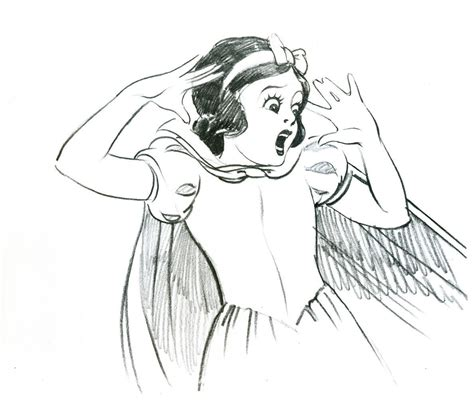 scared snow white  drawing drawing  cut