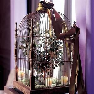 Cage Oiseau Deco : une cage oiseau en guise de centre de table marie claire ~ Teatrodelosmanantiales.com Idées de Décoration