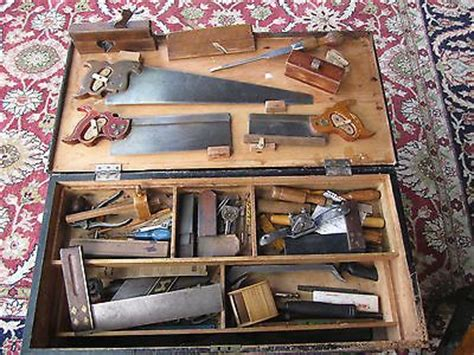 antique vintage tool chest   tools henry disston