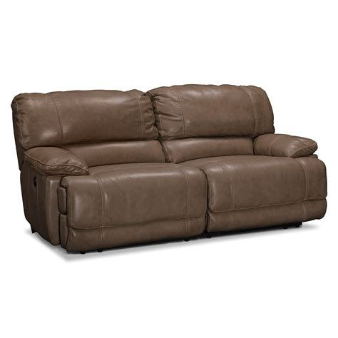 sofa with two recliners st malo ii 2 pc power reclining sofa value city furniture