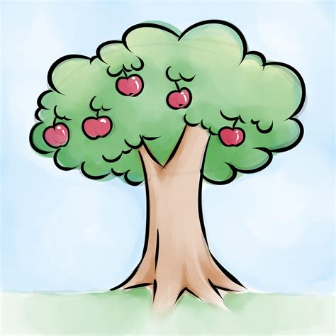 Apple Tree Clipart Apple Trees Drawing Clipart Best