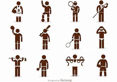 Stick Figure Vector Sport Icons Sports Pack