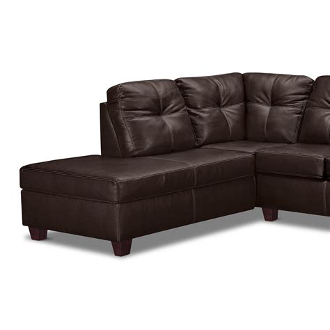 chaise pc rialto iii leather 2 pc sectional with chaise value