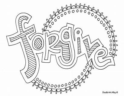 Coloring Word Doodle Forgive Alley