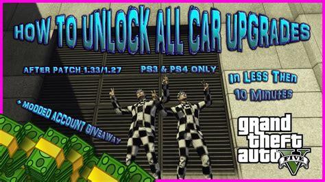 Gta 5 Car Modification Unlock by Gta 5 How To Unlock All Car Modifications In 10 Mins