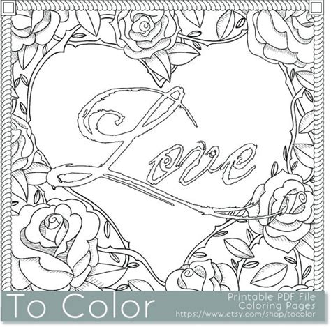 items similar  printable rose frame love coloring page