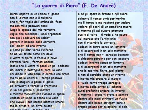La Di Piero Testo by Testo Canzone La Di Piero 28 Images La Di Piero