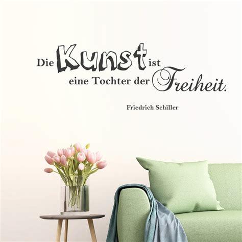 Die Kunst Der Putzfassade by Wandtattoo Zitat Die Kunst Ist Eine Tochter Der Freiheit