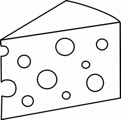 Cheese Clipart Coloring Swiss Slice Drawing Clip