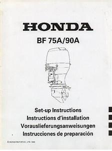 Honda Marine Outboard Motor Bf75a Bf90a Set