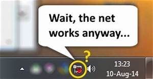 """Network icon disappeared: Fix missing and """"disconnected ..."""