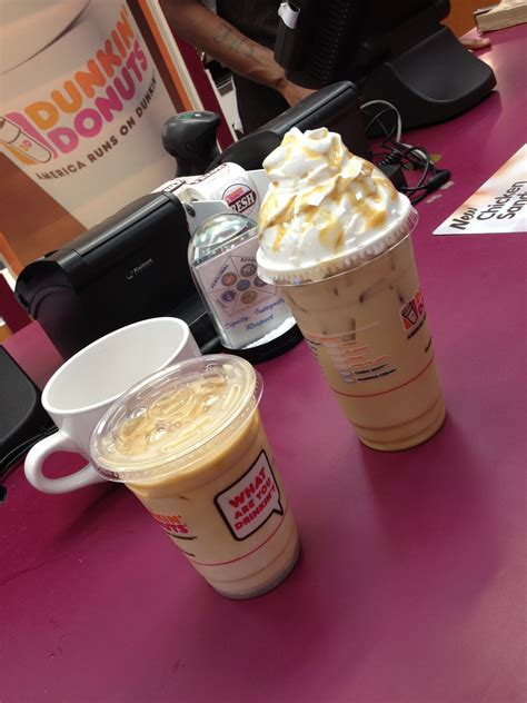 These rich and creamy flavor swirls offer guests a delicious new way to customize their hot and iced coffee. dunkin donuts french vanilla Iced coffee and frozen ...