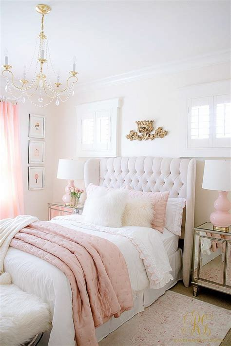simple ways  add pink   home gold bedroom