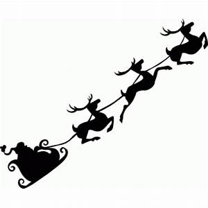 Silhouette Design Store - View Design #68455: flying santa