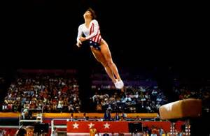 lou retton uneven bar routine photo by dave black a really awesome photographer i met