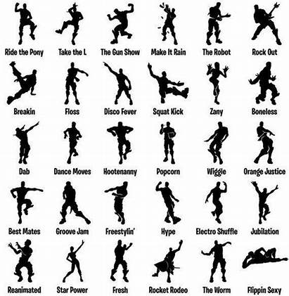 Dance Silhouette Fortnite Moves Party Birthday Battle