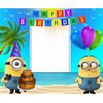 Minions Birthday Happy Frame Transparent Frames Cards