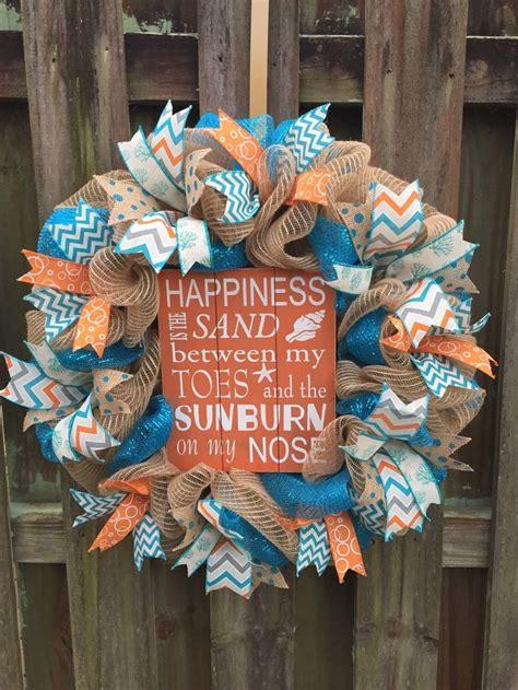 ideas  beach wreaths  pinterest shell