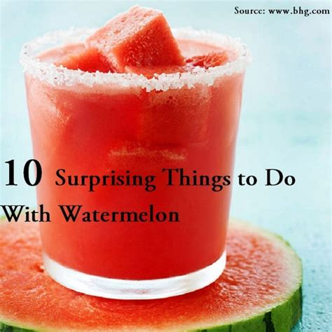 10 Surprising Things To Do With Watermelon  Home And Life