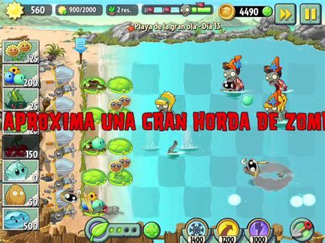 plants vs zombies 2 playa de la gran ola d 237 a 13