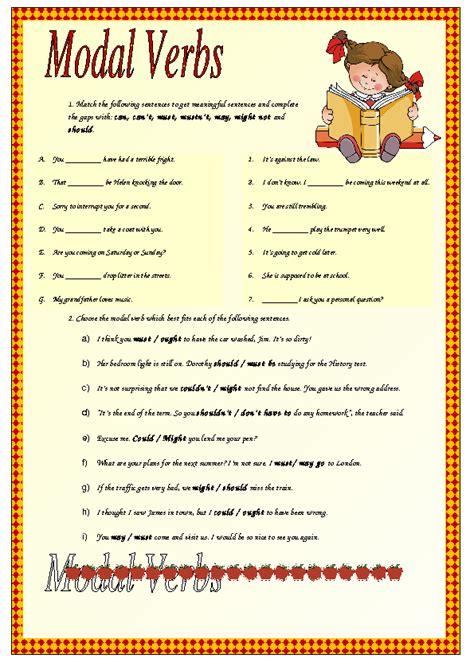 modal verbs intermediate worksheet