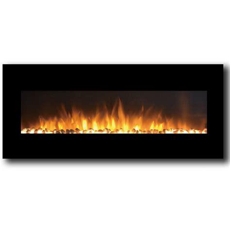 milan   pebbles electric wall mounted fireplace black
