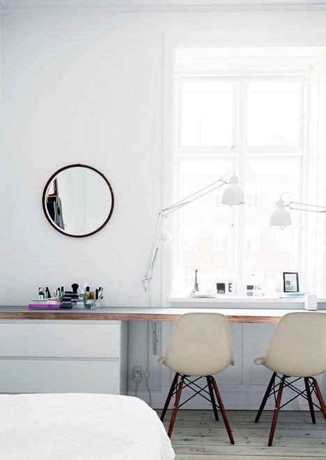 bureau avec commodes ikea malm et plan de travail en