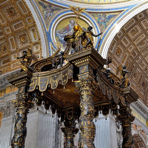 Baldacchino By Bernini Bernini The Baldacchino Inside St 1624 33 Rome