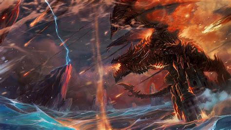 Deathwing Animated Wallpaper - 1920x1080 lightning world of warcraft deathwing