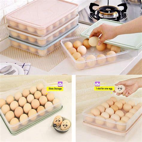 storage for eggs in kitchen kcasa kc es01 24 slots egg refrigerator storage holder 8370