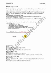 English Worksheets  A Suspense Story