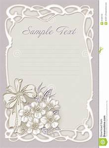 Wedding invitation frame with flowers stock illustration for Wedding invitation cards photo frame